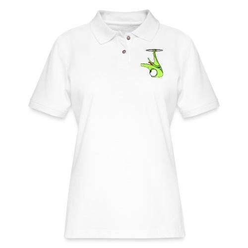 Funny Green Ostrich - Women's Pique Polo Shirt