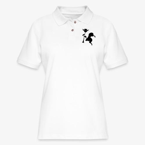 imagika black - Women's Pique Polo Shirt