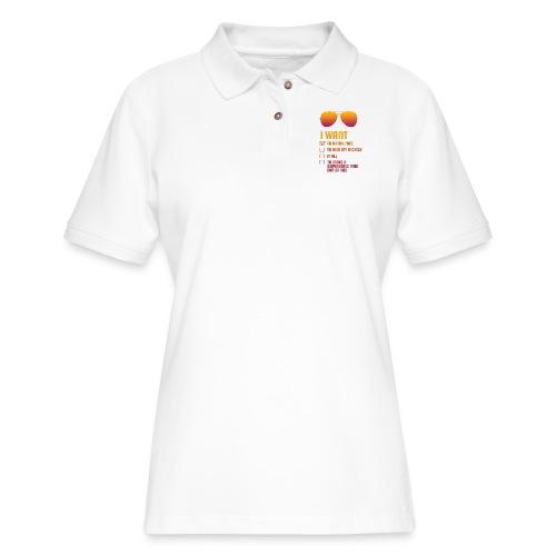 I Want To Break Free retro - Women's Pique Polo Shirt
