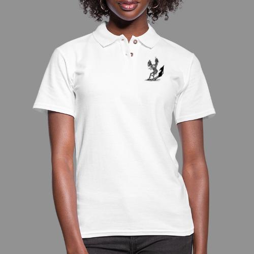 Wolfman Originals Black & White 18 - Women's Pique Polo Shirt