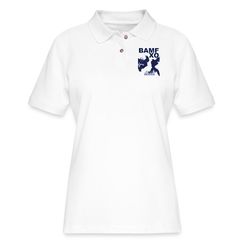 DRAV copy png - Women's Pique Polo Shirt