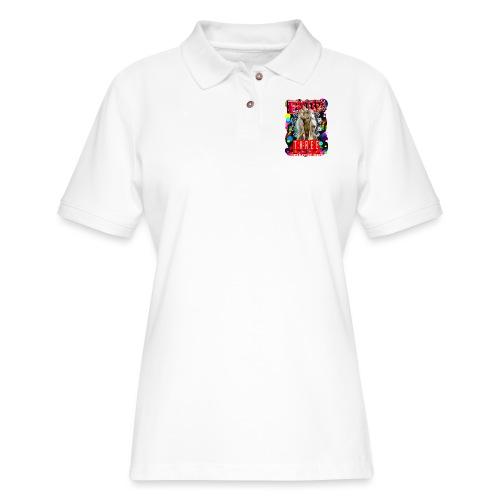 botox matinee threesome t-shirt - Women's Pique Polo Shirt
