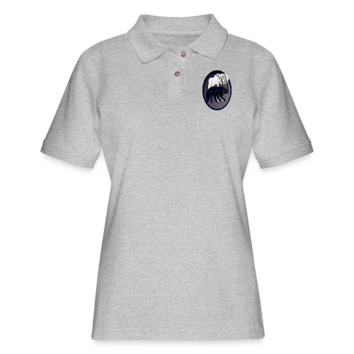 Two Wolves-oval - Women's Pique Polo Shirt
