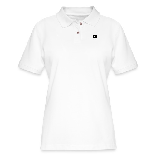 SD Designs blue, white, red/black merch - Women's Pique Polo Shirt