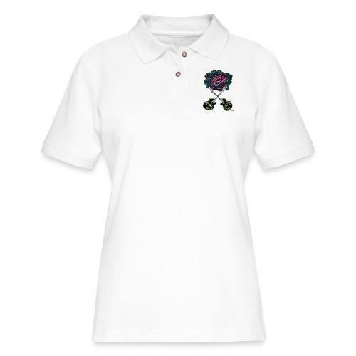 Black Rose - Women's Pique Polo Shirt