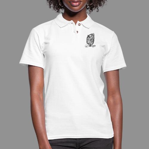Wolfman Originals Black & White 12 - Women's Pique Polo Shirt
