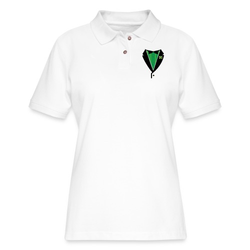 Jamaican Tuxedo Green - Women's Pique Polo Shirt