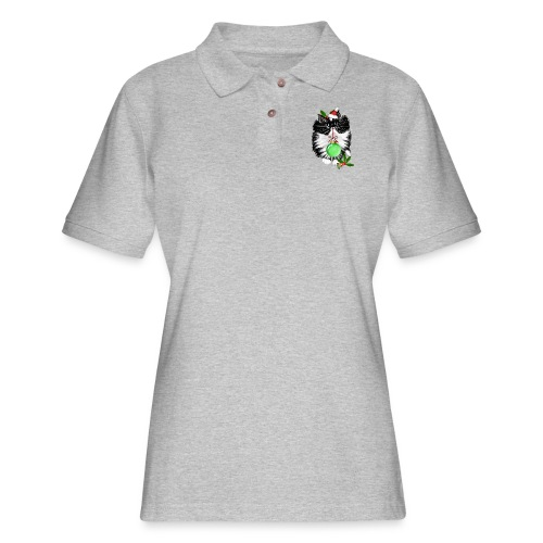 A Tuxedo Merry Christmas - Women's Pique Polo Shirt