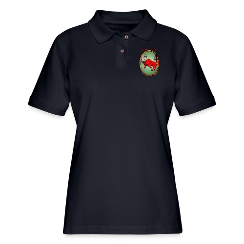 The Red Ox Oval - Women's Pique Polo Shirt
