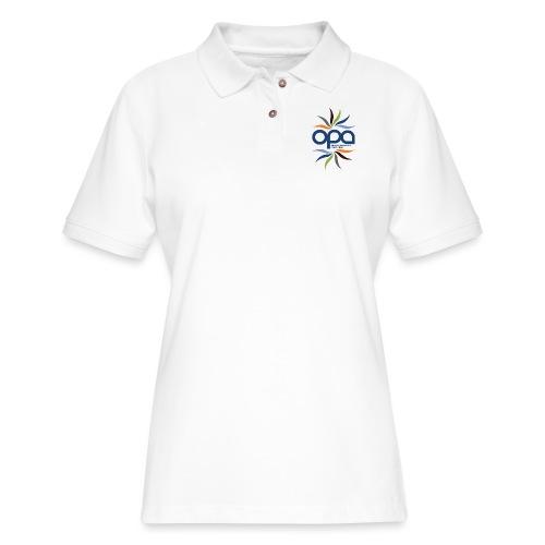 iPhone case with full color OPA logo - Women's Pique Polo Shirt