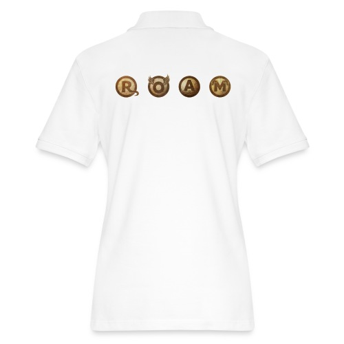 ROAM letters sepia - Women's Pique Polo Shirt