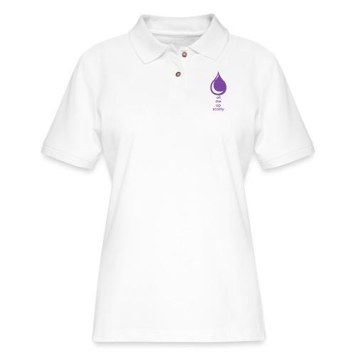 Oil Me Up Scotty - Women's Pique Polo Shirt