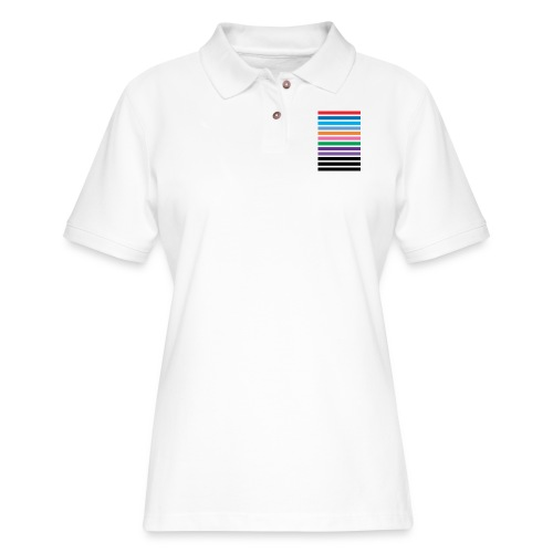Lines - Women's Pique Polo Shirt