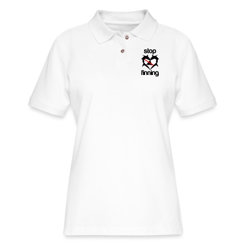 Stop Shark Finning - Women's Pique Polo Shirt