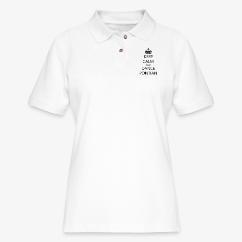 Keep Calm And Dance Pontian - Women's Pique Polo Shirt