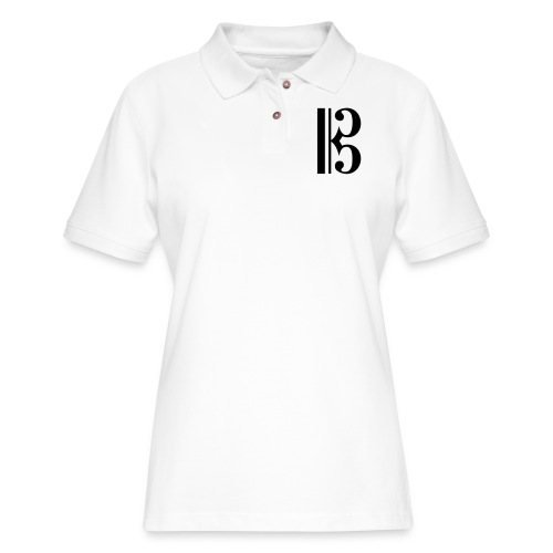 Tenor/Alto Clef - Women's Pique Polo Shirt