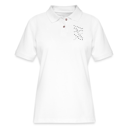 animal track tracks slot scent trail outdoor deer - Women's Pique Polo Shirt