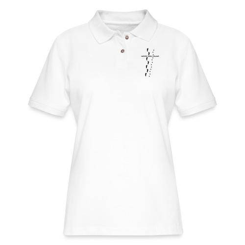 never walk alone dog love - Women's Pique Polo Shirt