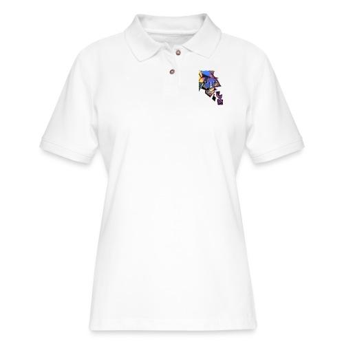 Face Me Artwork - Women's Pique Polo Shirt