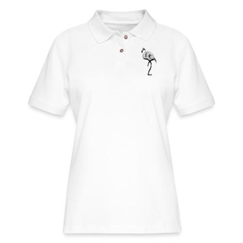 Women's 2Ton Flamingo Shirt - Women's Pique Polo Shirt