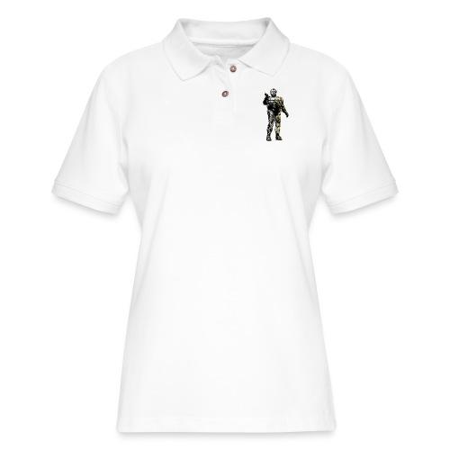 JorgeCop_blackandwhite - Women's Pique Polo Shirt