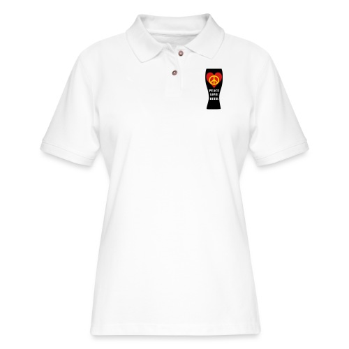 Peace Love Beer - Women's Pique Polo Shirt