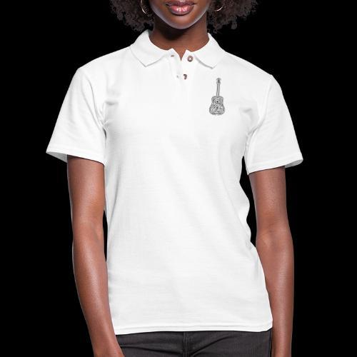 Amazing Guitar - Customizable Color Design - Women's Pique Polo Shirt