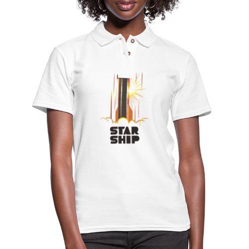 Star Ship Mars - Light - Women's Pique Polo Shirt