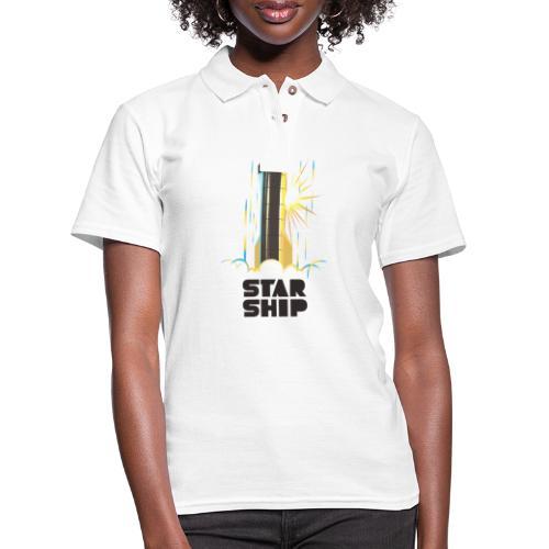 Star Ship Earth - Light - Women's Pique Polo Shirt