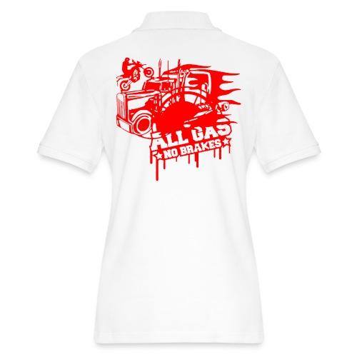 All Gas no Brakes - Women's Pique Polo Shirt
