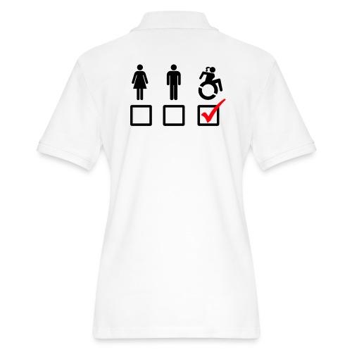 Female wheelchair user, check! - Women's Pique Polo Shirt