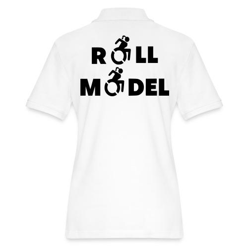 As a lady in a wheelchair i am a roll model - Women's Pique Polo Shirt