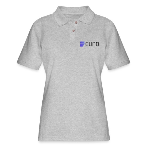 EUNO LOGO LANDSCAPE BLACK FONT - Women's Pique Polo Shirt