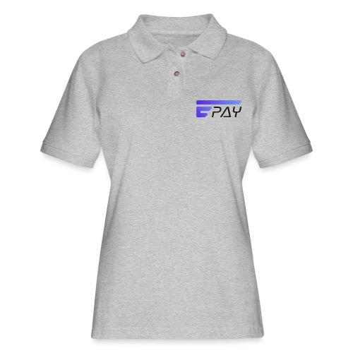 EUNOPAY LOGO BLACK FONT - Women's Pique Polo Shirt