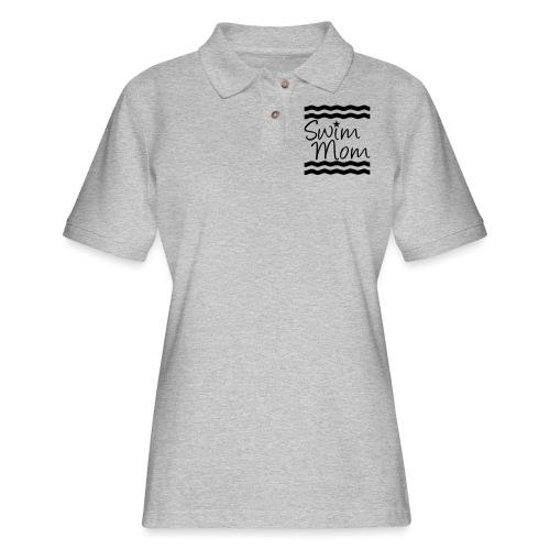 Swim Mom swimming - Women's Pique Polo Shirt