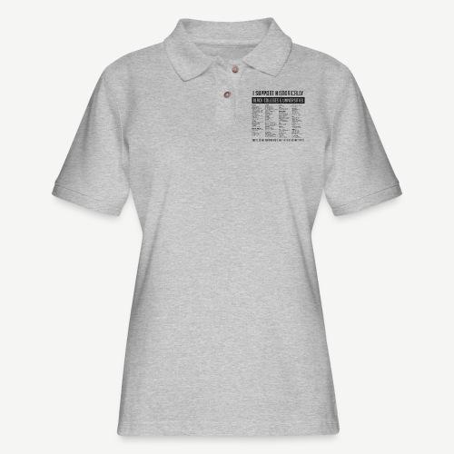 List of HBCUs (black) - Women's Pique Polo Shirt