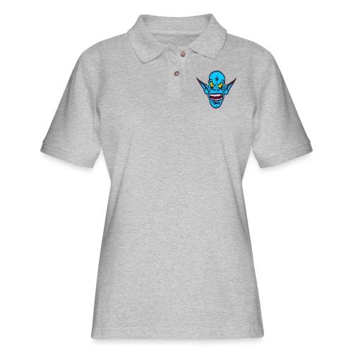 Alien Troll - Women's Pique Polo Shirt