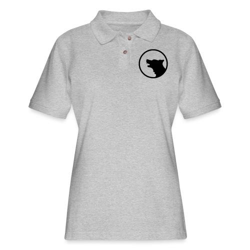 Wolf Silhouette Vector - Women's Pique Polo Shirt