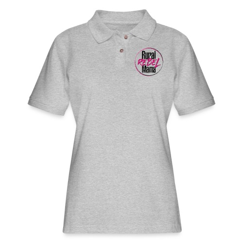 Rural Rebel Mama Logo - Women's Pique Polo Shirt