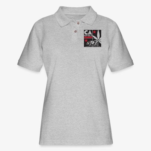 grid2 png - Women's Pique Polo Shirt