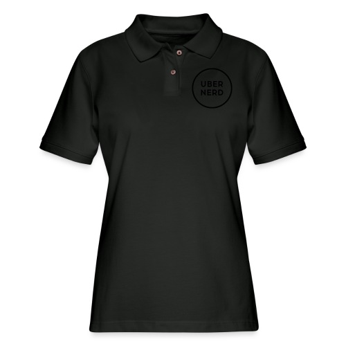 uber nerd logo - Women's Pique Polo Shirt
