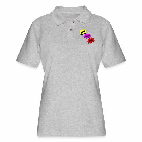 Boink Zoink Hoink - Women's Pique Polo Shirt