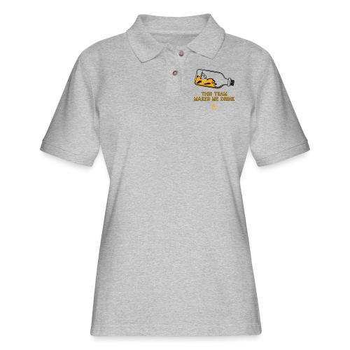This Team Makes Me Drink - Women's Pique Polo Shirt