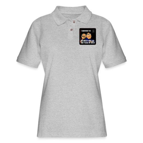 Goldrick and Lax Tag Team - Women's Pique Polo Shirt
