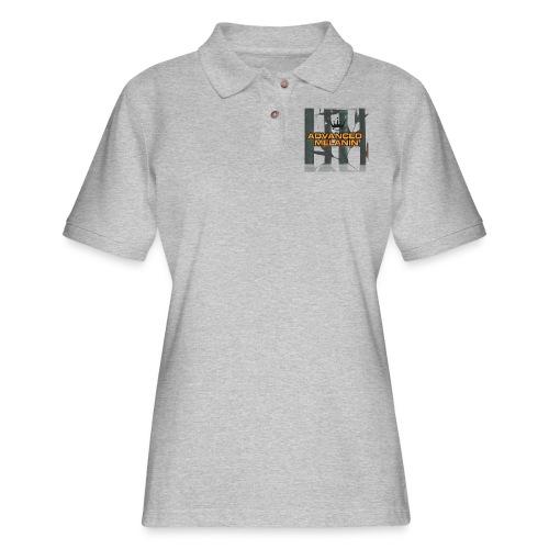 AM line. - Women's Pique Polo Shirt
