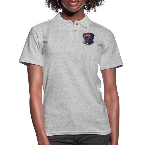 Dog head smoke - Women's Pique Polo Shirt