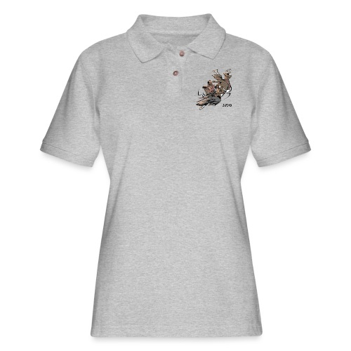 Judo Design Uki Otoshi Throw - Women's Pique Polo Shirt