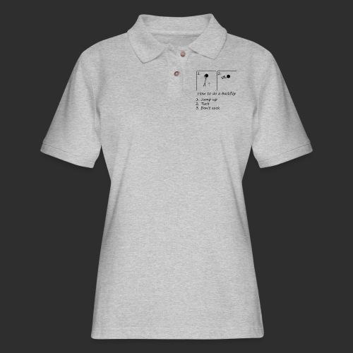 How to backflip - Women's Pique Polo Shirt