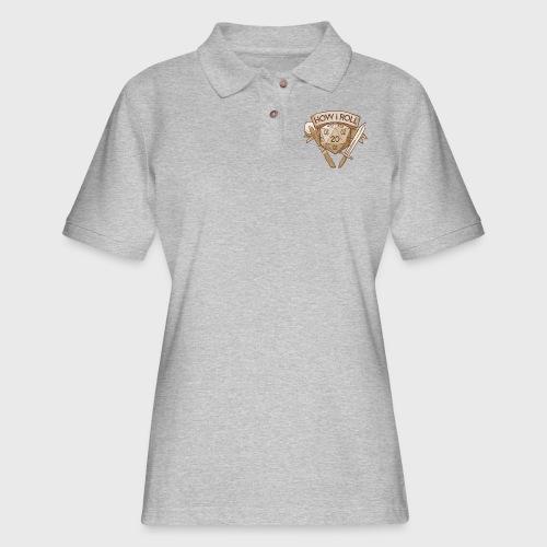 How I Roll D&D Tshirt - Women's Pique Polo Shirt