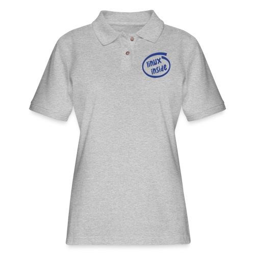 linux inside - Women's Pique Polo Shirt